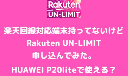 Rakuten UN-limit 対応回線
